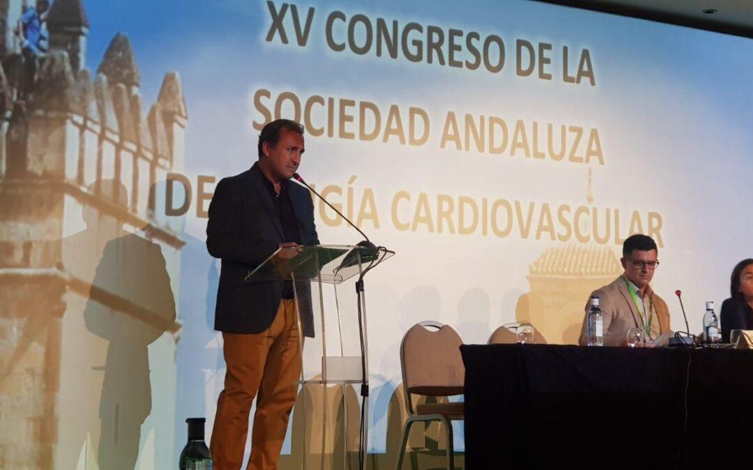 El Dr. Pedro Aranda en la inauguración oficial del XV Congreso de la Sociedad Andaluza de Cirugía Cardiovascular