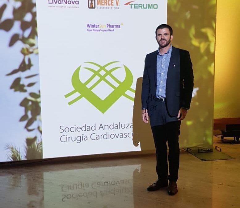 Nuestro delegado James Thomson asistiendo al XV Congreso de la sociedad Andaluza de Cirugía Cardiovascular en Córdoba.